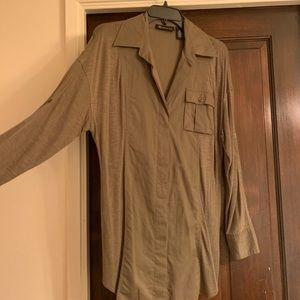 Inc tunic. Worn once olive green
